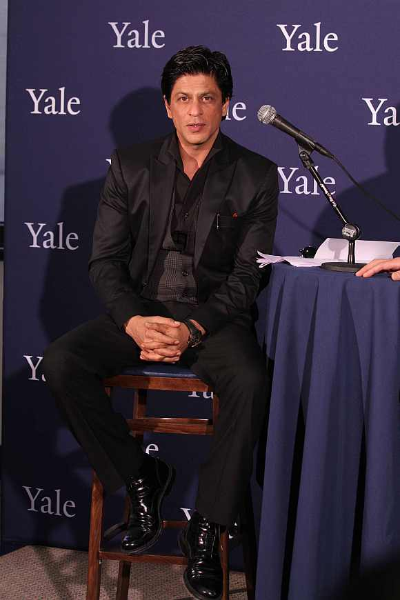 Actor Shah Rukh Khan at the Yale University
